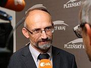 Představení nové koalice, která bude vládnout Plzeňskému kraji. Na snímku Pavel Čížek