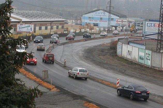 Nová silnice na Jateční v Plzni