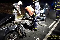 Dopravní nehoda mezi Horní Břízou a Kaznějovem.