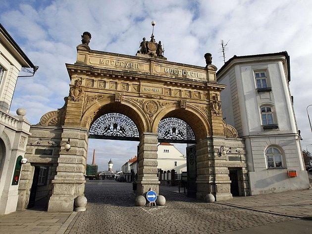 Brána Plzeňského Prazdroje.