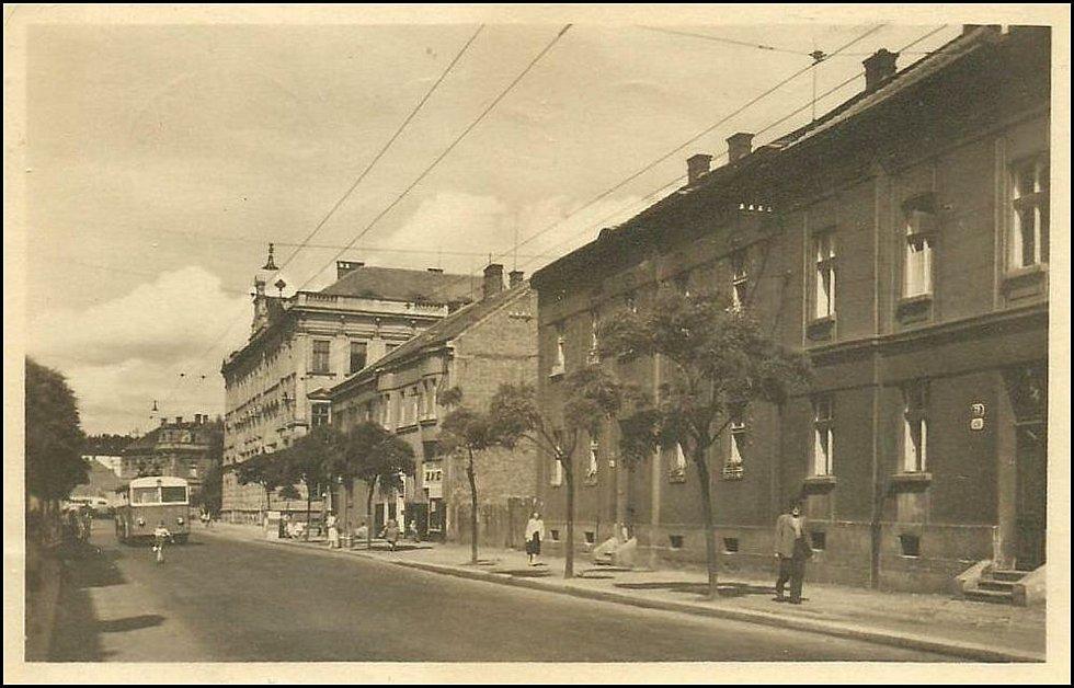 Masarykova třída v první polovině 20. století.