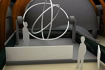 Vizualizace exponátů expozice Vesmír - Gyroskop