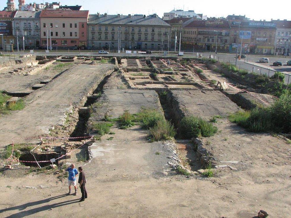 Místo archeologického výzkumu v Jízdecké ulici