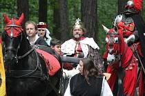 Karel IV. se svou družinou.