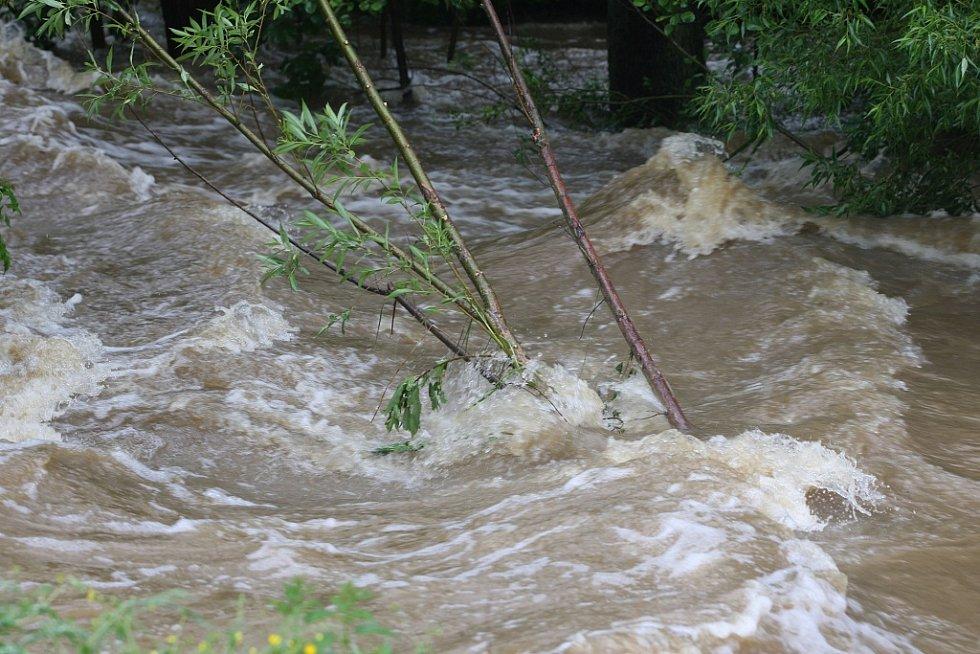Povodně v Plzni - Spálené Poříčí