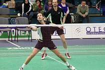 Těsně pod vrcholem skončili ve čtyřhře mužů na víkendovém mistrovství České republiky v Přerově badmintonisté USK Plzeň Jaroslav Sobota (vlevo) a Josef Rubáš