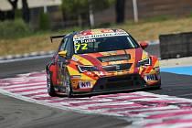 Petr Fulín s vozem Seat Leon Cup Racer