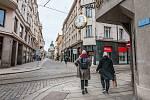 Plzeňské ulice v březnu 2021.