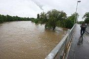 Povodeň v Plzni v Chrástecké ulici