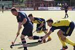 Jednu branku vstřelil při porážce 3:6 svého týmu v semifinále Final Four extraligy pozemních hokejistů s týmem Bohemians litický Adam Uhlíř (na archivním snímku vpravo).