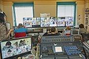Filmaři při natáčení v plzeňské fakultní nemocnici