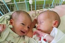 Dvojčátka Julie (2,30 kg, 45 cm) a Šimon (2,10 kg, 45 cm)se narodila 20. 5. v Mulačově nemocnici, Julinka v 7:57 a 2 minuty později Šimon. Radost mají rodiče Vendula Soukupová a Daniel Hejsa z Bohů a také Žanetka (10) a Filípek (4)