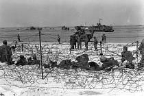 Němečtí zajatci na pláži Utah