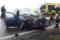 Čtvrteční ranní nehoda u Losiné.