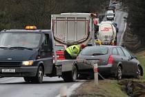 Hned ke dvěma nehodám došlo v pondělí ráno na hlavním tahu z Plzně směrem na Kaznějov