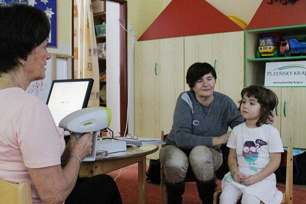 Vyšetření zraku screeningem u dětí přímo ve školce