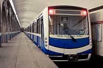 Souprava metra NěVa, které Škoda Transportation dodala do Petrohradu již dříve
