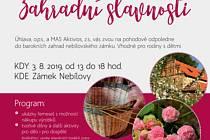 Zahradní slavnosti zámek Nebílovy 2019 plakát