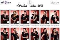 Semifinalistky soutěže Dívka roku 2015