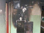 Požár v rodinném domě v Pernarci.