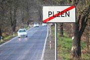 Silnice z Plzně do Radčic.
