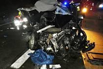 Nehoda na několik hodin uzavřela dálnici ve směru na Plzeň.