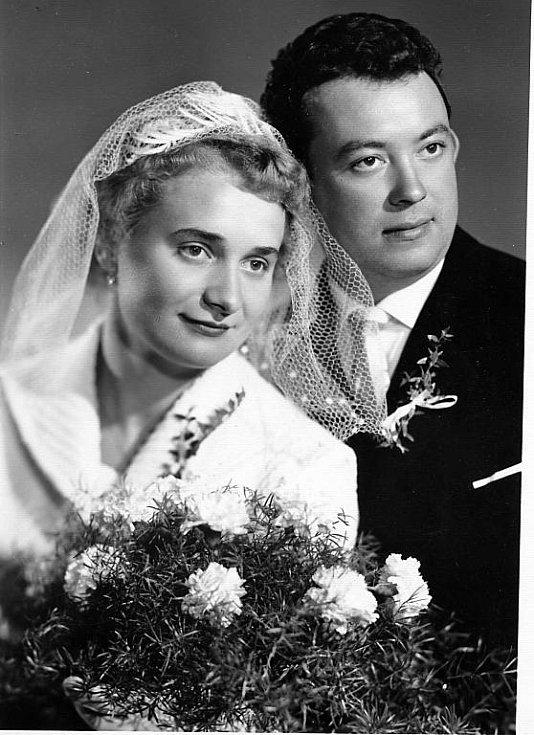 č. 140: Helena a Václav Boškovi, Otín u Klatov (Svatba: 3. října 1964)