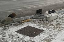 Poražený radar u Teska na Borských polích