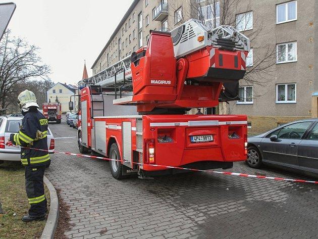 Požár bytu v Revoluční ulici v Plzni