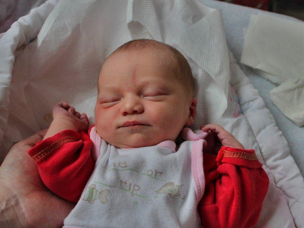 Evelína Kůsová z Přeštic se narodila v klatovské porodnici 15. února ve 22.18 hodin. Rodiče Jana a Václav přivítali svoji prvorozenou dceru, která po příchodu na svět vážila 3300 gramů a měřila 49 centimetrů, společně.