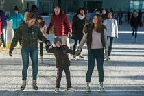 Bruslení pro veřejnost na zimním stadionu Kooperativa arena v Plzni přilákalo stovky lidí. Otevřeno bylo na Štědrý den, první i druhý svátek Vánoční