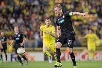 Václav Procházka během utkání se španělským Villarrealem