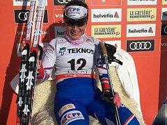V Lahti si Kateřina Beroušková užila posezení v křesle pro průběžně nejlepší závodnici.