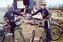 Prozatimní trať na BMX – u Fakultní nemocnice Lochotín, 1988.