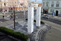 Vizualizace nových pylonů památníku Díky, Ameriko!