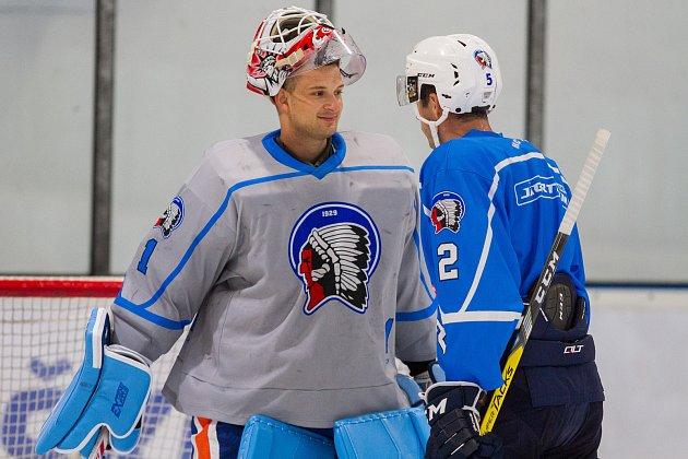 Hokejisté HC Škoda Plzeň odstartovali přípravu na ledě. Na snímku posila Miroslav Svoboda.