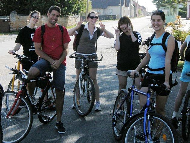 Cyklovýlet do Dobříva kyšické dobrovolníky nadchl