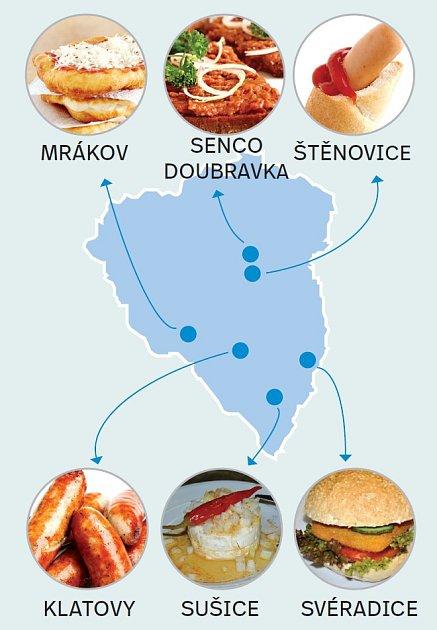 Mapa občerstvení.