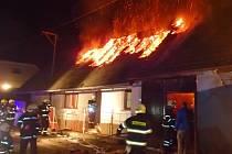 Požár domu ve Všerubech