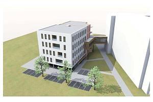 Nová budova pro ambulance a například i lékárnu vznikne u Nemocnice Privamed v Kotíkovské ulici v Plzni na Lochotíně.