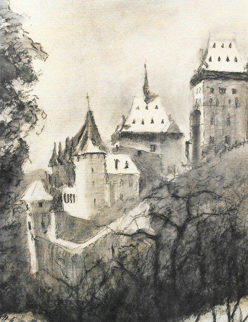 Karel Hlavička, Karlštejn, kombinovaná technika