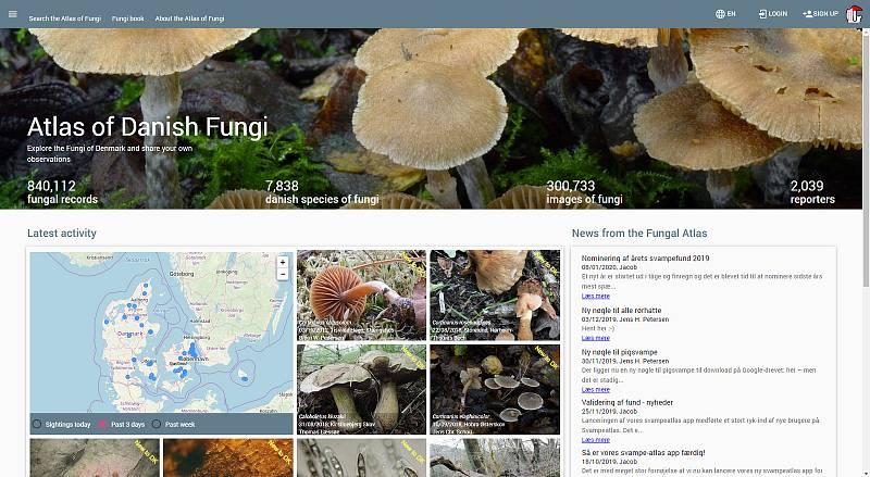 Tohle je web, který využívá Lukášův software na rozpoznávání hub.