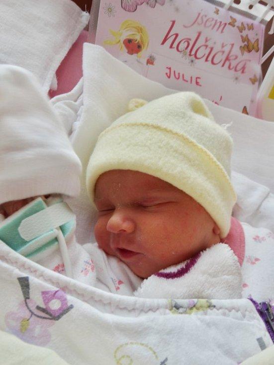 Julie Tyllová se narodila 4. dubna v 8:18 mamince Nikole a tatínkovi Lukášovi z Plzně. Po příchodu na svět ve FN Plzeň vážila sestřička pětiletého Matěje 2260 gramů a měřila 45 centimetrů.