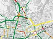 To je ona. Chytrá mapa intenzity dopravy v Plzni.