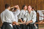Semináře bojového umění aikido se zúčastnily desítky studentů.