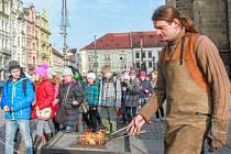 Kovář Jiří Šimon na trzích na náměstí Republiky v Plzni