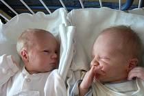 Ve Fakultní nemocnici vPlzni se 15. června narodila dvojčátka. Jakub (2,62 kg, 48 cm) přišel na svět v17:37 hod., jeho sestra Jolanka (2,26 kg, 45 cm) je o čtyři minuty starší. Rodiče Veronika a Jan Nejedlých zTymákova mají z prvorozených dětí radost