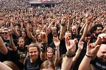 Metalfest hudební festival amfiteátr Lochotín skupina Freedom Call