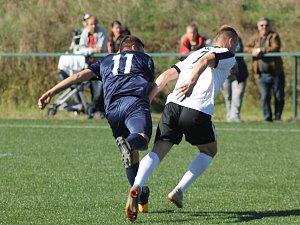 Fotbalisté Plzně (na snímku hráč v modrém dresu) po domácí porážce s Blanenskem 4:7 podlehli v Superlize malého fotbalu vysoko také favorizované Jihlavě.