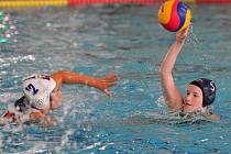 Evropský pohár žen ve vodním pólu. Na snímku zápas Slovenska proti Walesu